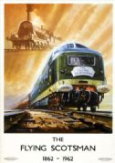 The Flying Scotsman, 1862-1962. BR Vintage Travel Poster by Bagley.